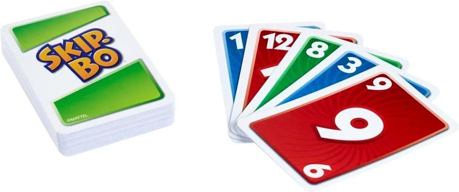 Mattel Games, skip-bo card game display - europe