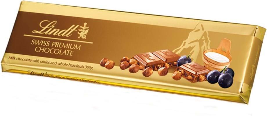 Lindt Tablet Gold Raisin Nut 300g