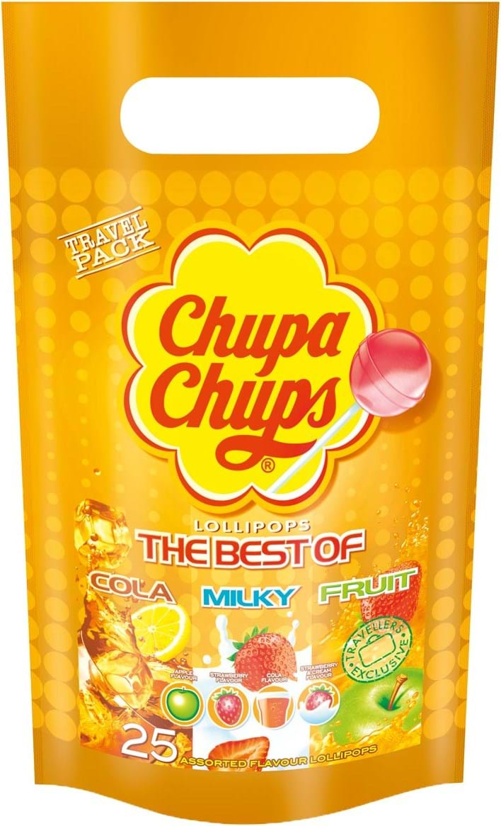 Chupa Chups Best Of 25 Lollipops 300g