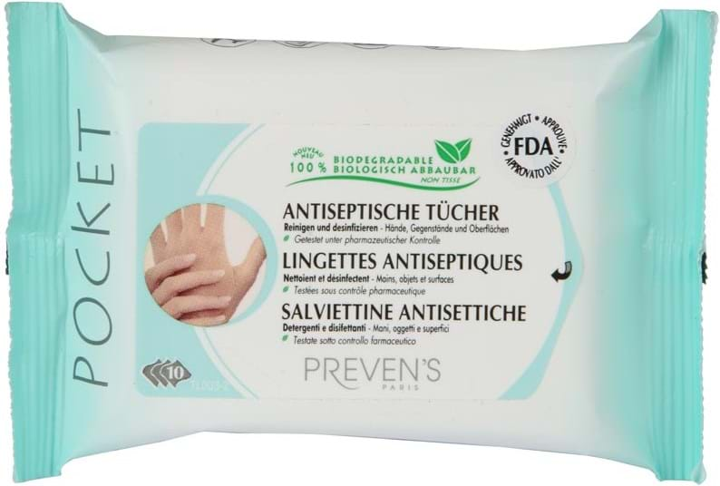 Prevens Antiseptic and cleaning Handkerchiefs 10 pcs.