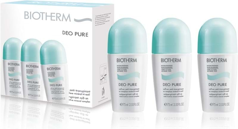 Biotherm Pure Deodorant Roll-On Trio