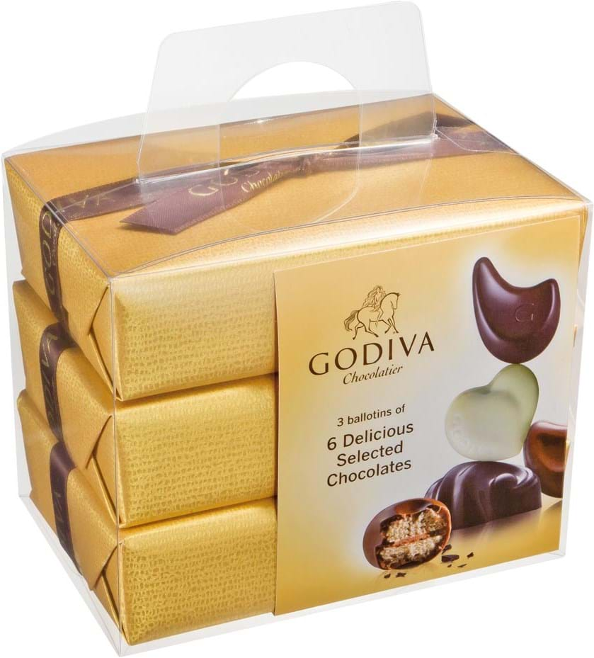 Godiva Gold Ballotin 3 x 6 stk. 210g