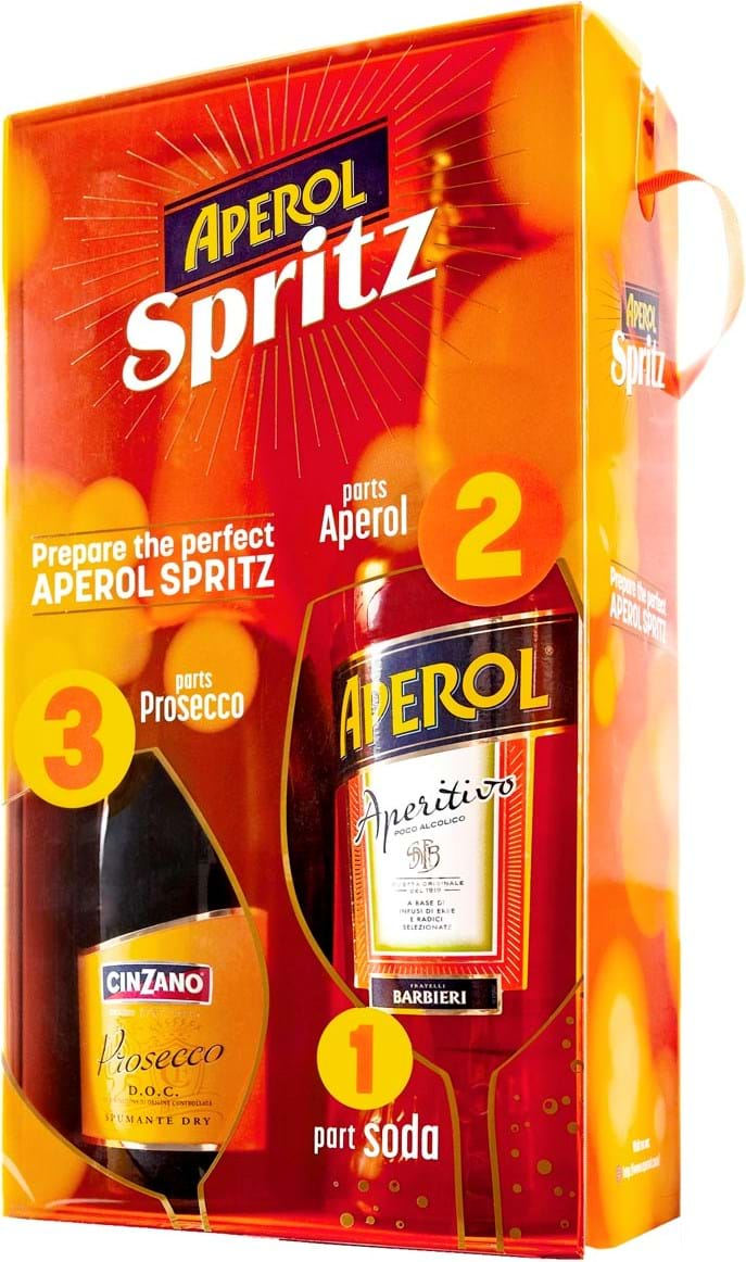 Aperol Spritz 11% (contains 1L Aperol 11% and 0.75L Cinzano Prosecco 11%)