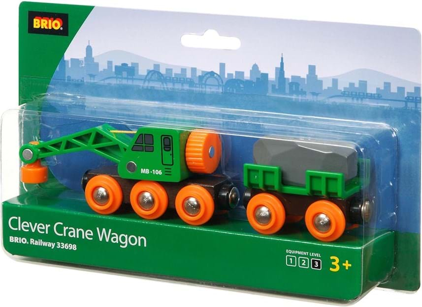 Brio, green crane wagon