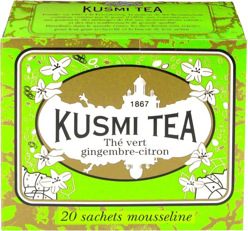 Kusmi Tea Green Ginger Lemon 20 teabags 44g