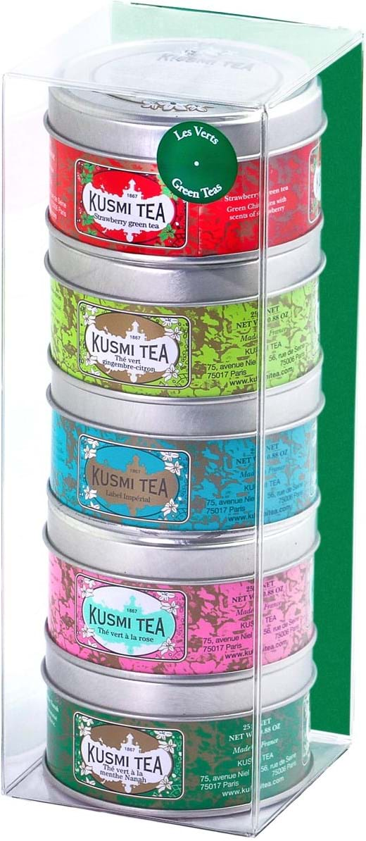 KUSMI Green Teas Sampler 5x25g tins