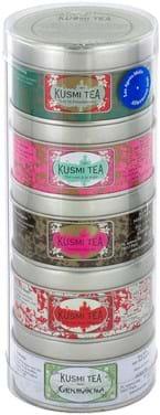 KUSMI Afternoon Teas, prøvepakke, fem dåser à 25g