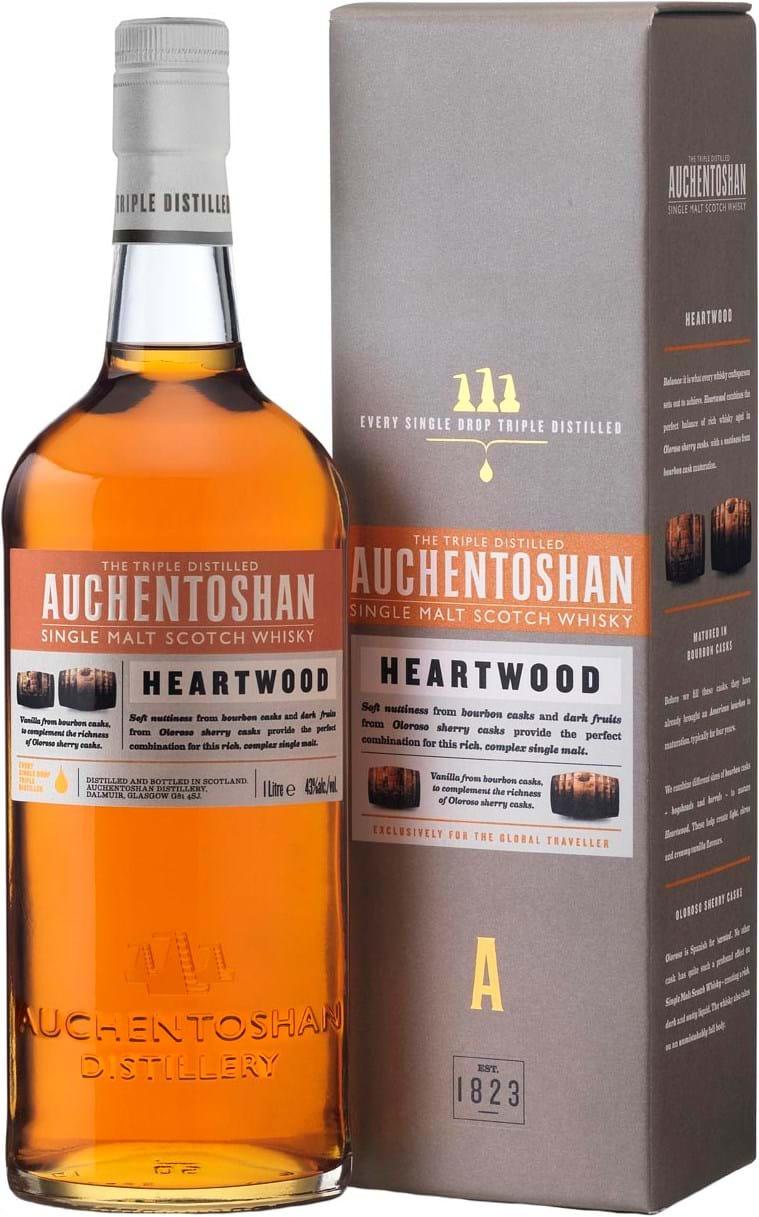Auchentoshan Heartwood 43% 1L, gaveæske