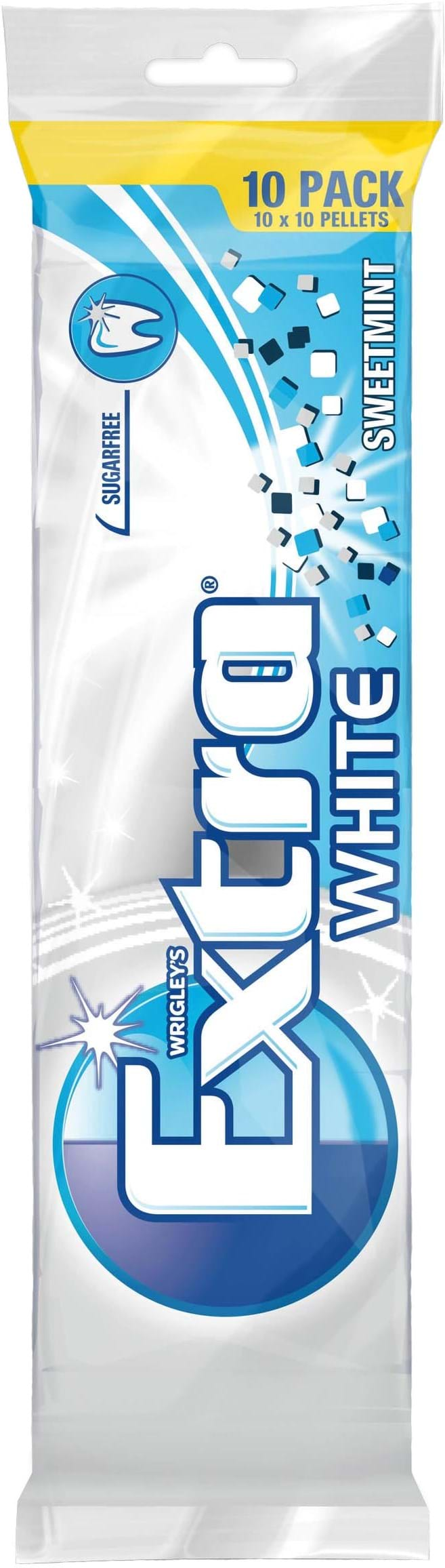 Wrigley's Extra White Sweetmint multipack, 10x10 plader, 140g