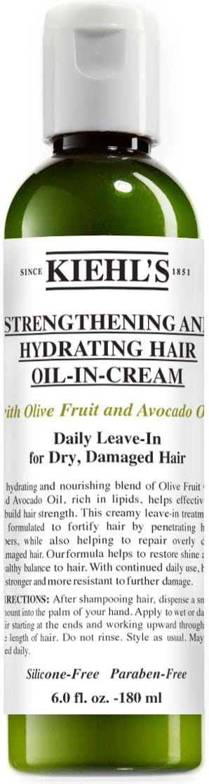 Kiehl`s Strengthening and Hydrating Hair Oil-in-Cream with Olive Fruit and Avocado Oil 180 ml