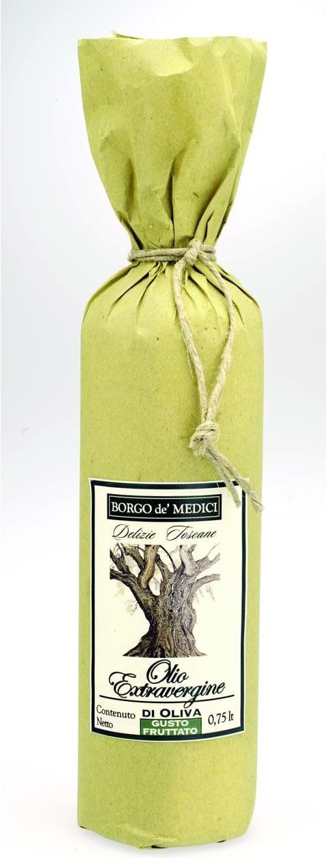 """Borgo de Medici – ekstra jomfruolivenolie i """"gammel stil"""" med gult papir 750ml"""