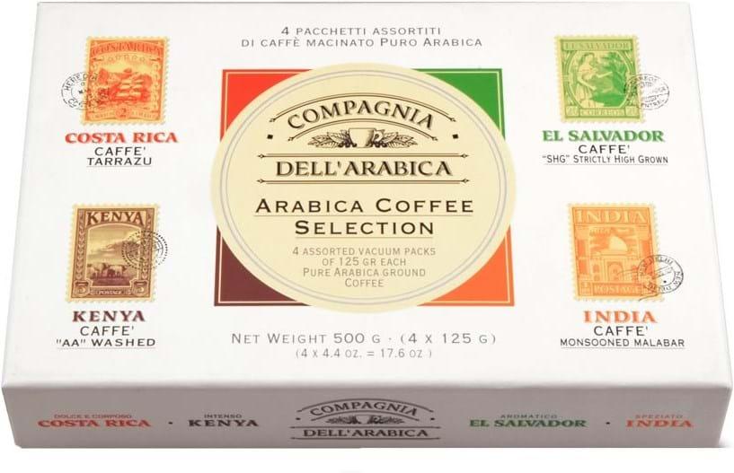 Compagnia dell'Arabica, udvalg af malet kaffe 4x125g