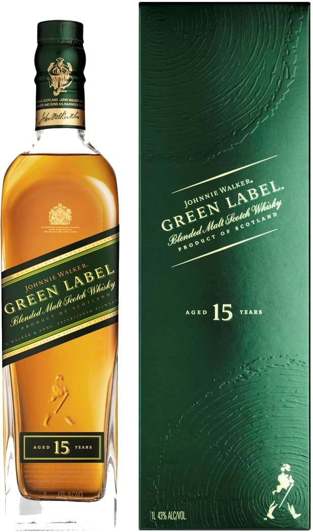 Johnnie Walker Green Label 15y 43% 1L giftbox