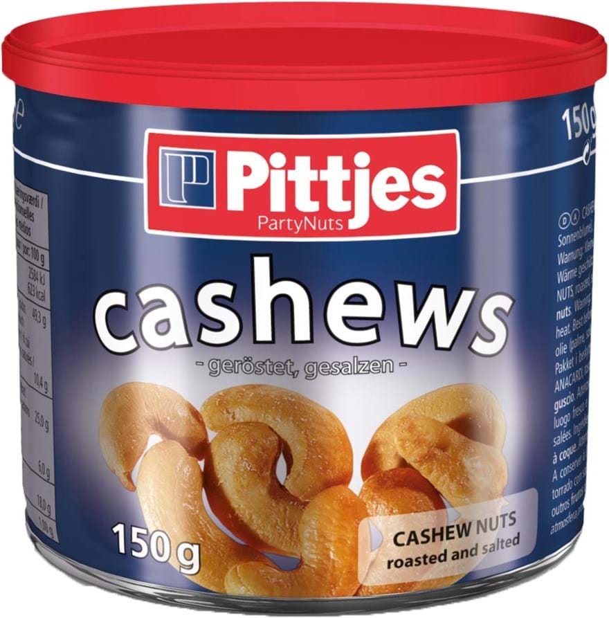 Pittjes Cashews Salt Tin, 150g