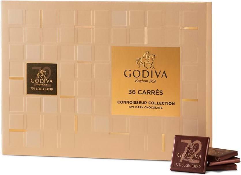 Godiva Carrés Dark 72% 36pc 180g