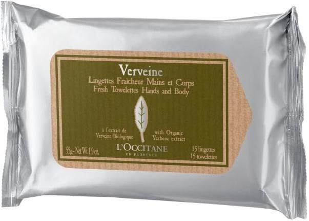 L'Occitane en Provence Verbena Refreshing Towelettes, 15 psc.