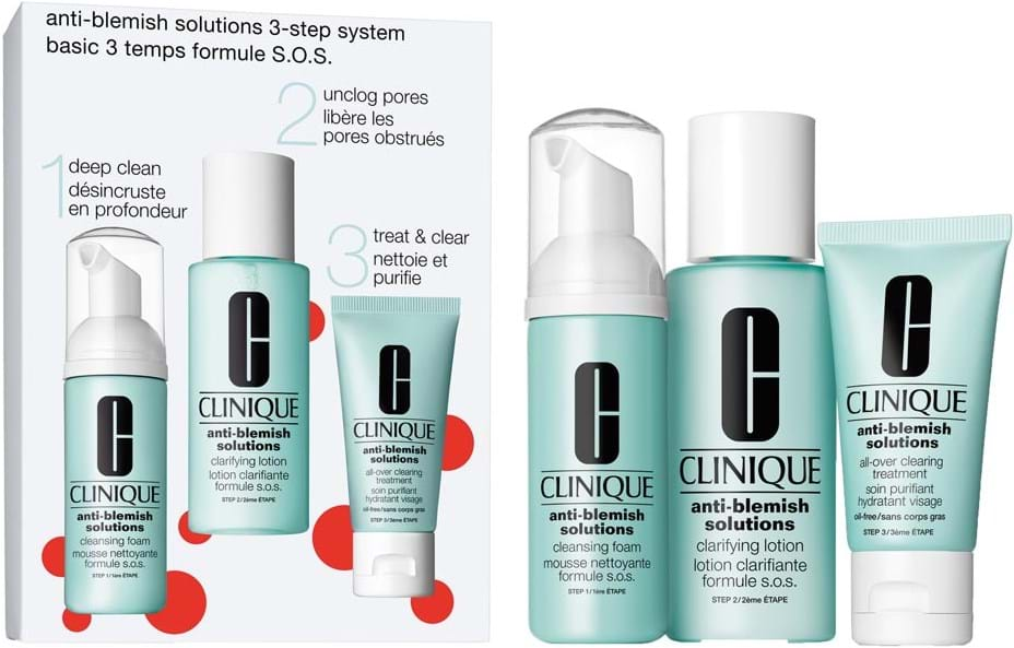 Clinique Anti-Blemish 3-Step System-sæt