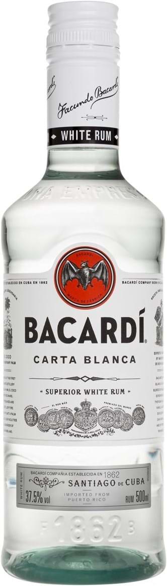 Bacardi Carta Blanca 37.5% 0.5L PET